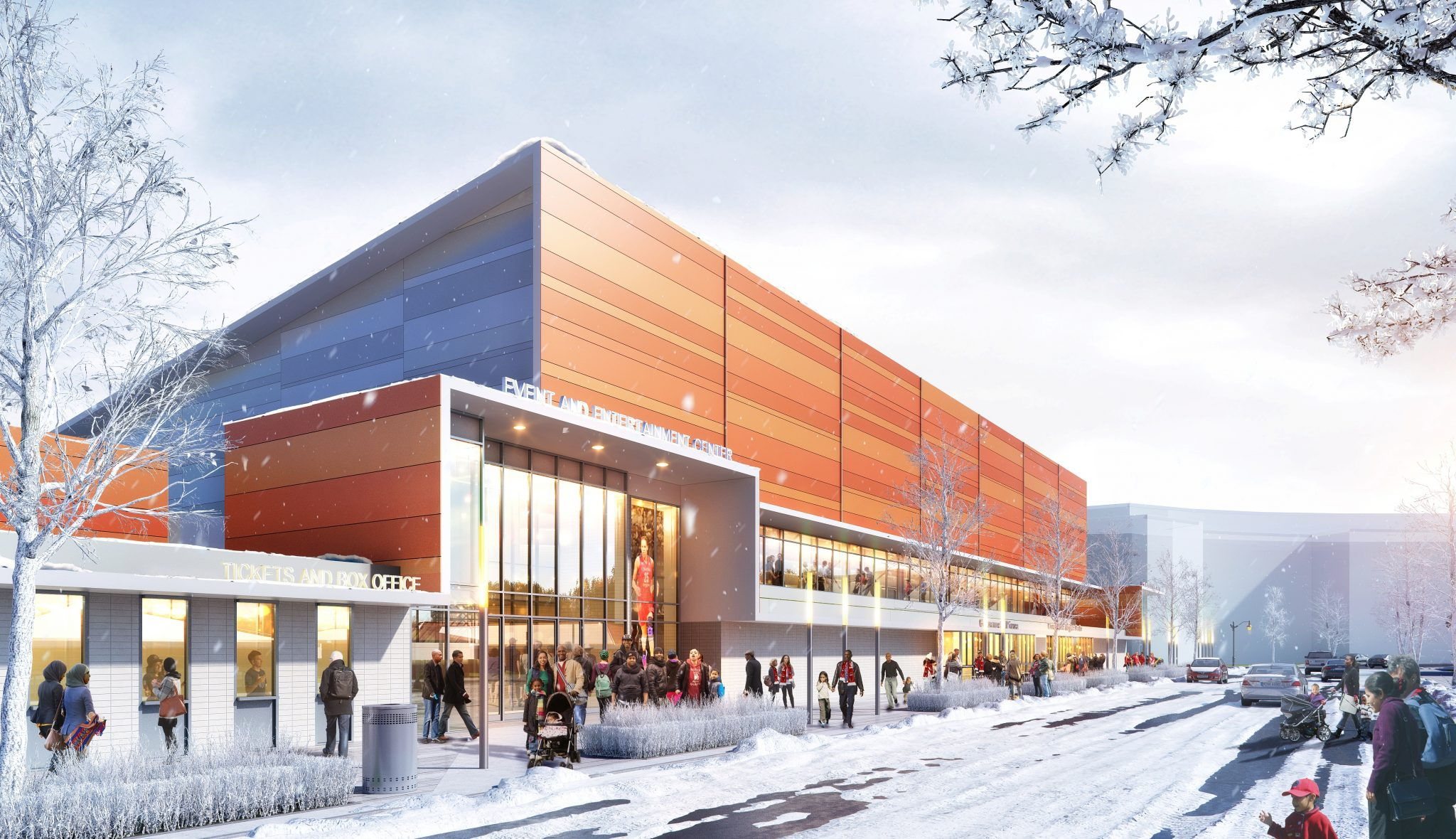 Entertainment and Sports Arena, winter