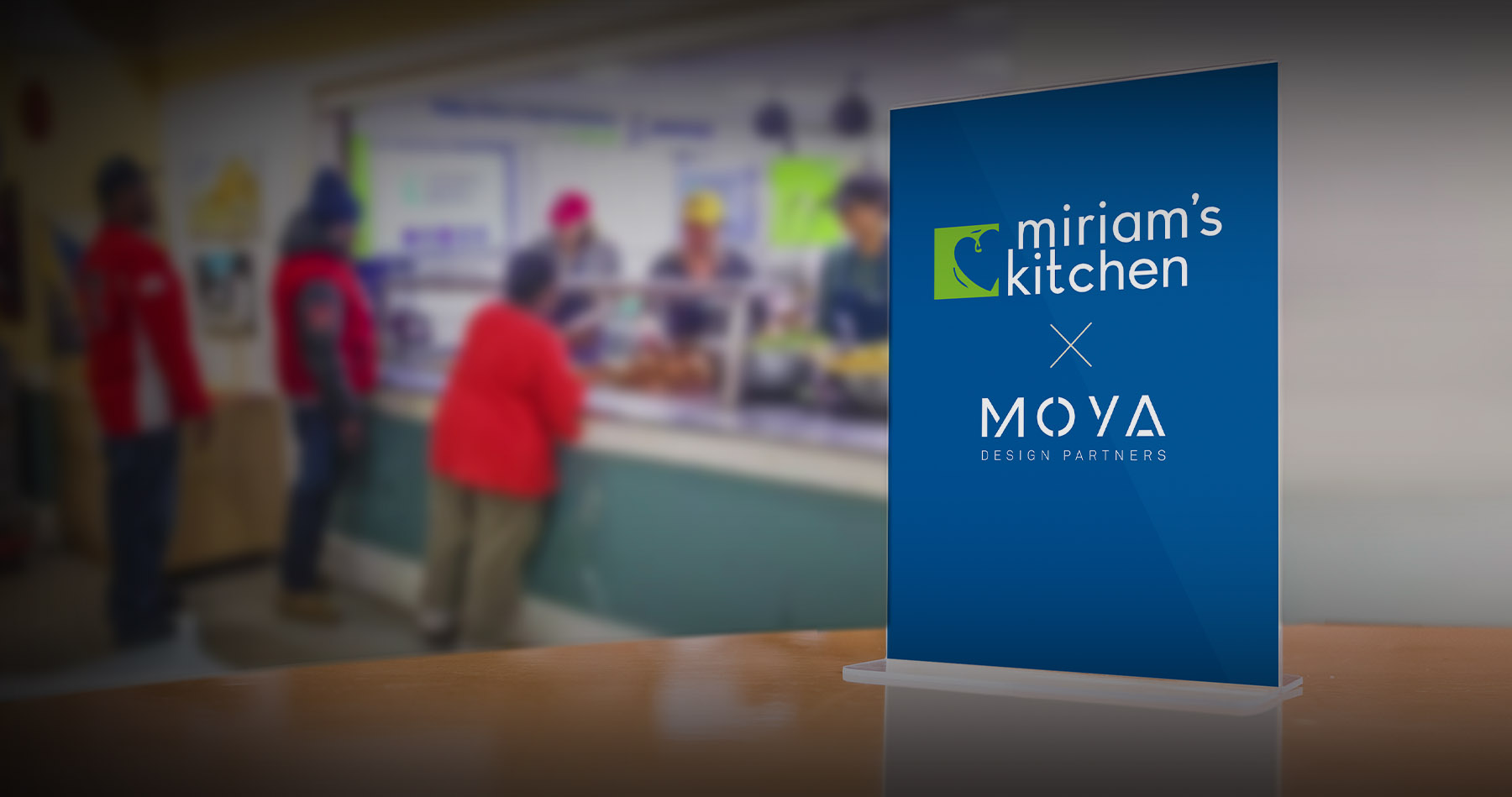 Moya Design Partners sponsors Miriam's Kitchen's 2020 More Than a Meal Campaign